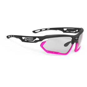 Rudy Project Fotonyk Gafas, matte black/pink fluo/impactX 2 photochromic black